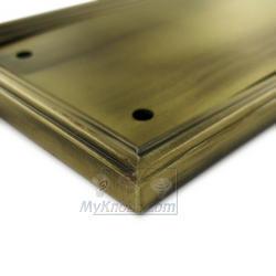 ... Deltana - Solid Brass 15  x 3 1/2  Heavy Duty Framed Push  sc 1 st  MyKnobs.com & Solid Brass Push Plates - Solid Brass 15