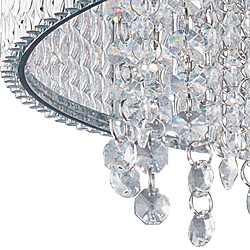 Spiral 22 1 2 10 Light Single Pendant In Polished Chrome With Crystal Et2 Lighting