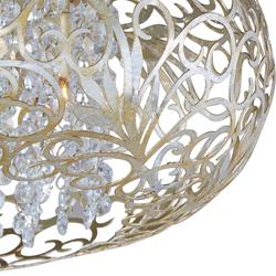 Arabesque 18 3 light flush mount fixture in golden silver with maxim lighting 18 arabesque 3 light flush mount fixture in golden silver with aloadofball Image collections