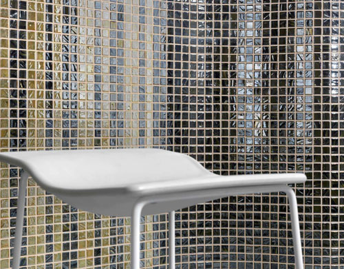 Mosaic Gl Tile By Vidrepur Anium Collection Recycled Mesh Backed Sheet In