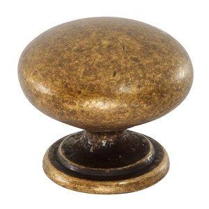 Siro Designs Antique Coppertone Brass Round Knob 33mm