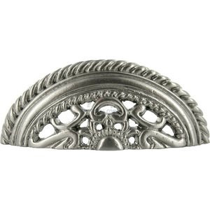 """Abstract Designs 3"""" Centers Cup Pull in Satin Nickel"""