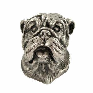 Abstract Designs Bulldog Knob in Antique Nickel