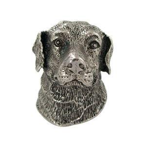 Abstract Designs Labrador Retriever Knob in Antique Nickel