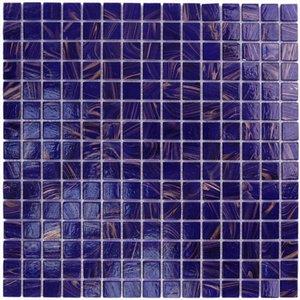 """Aqua Mosaics 3/4"""" x 3/4"""" Glass Mosaics in Cobalt Blue Copper"""
