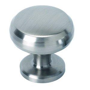 "Alno Inc. Creations Solid Brass 1"" Knob in Satin Nickel"