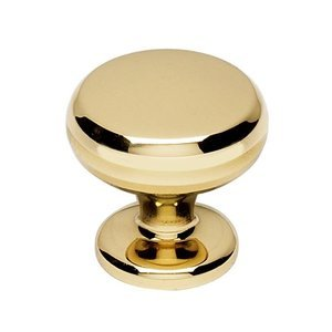 """Alno Inc. Creations Solid Brass 1 1/8"""" Knob in Polished Brass"""
