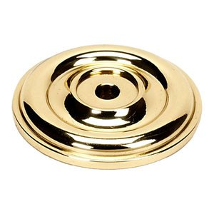 "Alno Inc. Creations Solid Brass 1 3/8"" Rosette for A1451 Knob in Unlacquered Brass"