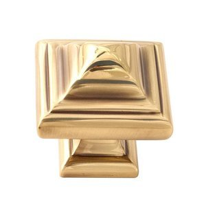 "Alno Creations Cabinet Hardware - Geometric Collection - Solid Brass 1 1/4"" Knob in Polished Antique"