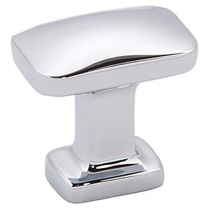 "Alno Inc. Creations 1"" Rectangular Knob in Polished Chrome"