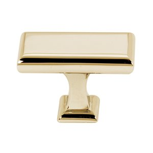 """Alno Inc. Creations 1 5/8"""" Knob in Polished Brass"""