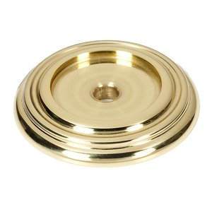 """Alno Inc. Creations 1 1/4"""" Knob Back Plate in Unlacquered Brass"""
