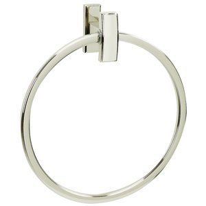 Alno Inc. Creations Towel Ring in Polished Nickel