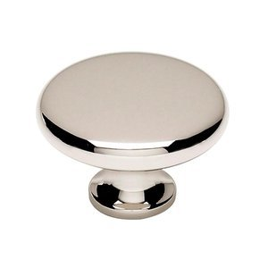 """Alno Inc. Creations Solid Brass 1 1/2"""" Knob in Polished Nickel"""