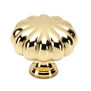 """Alno Inc. Creations Solid Brass 1 1/4"""" Knob in Unlacquered Brass"""