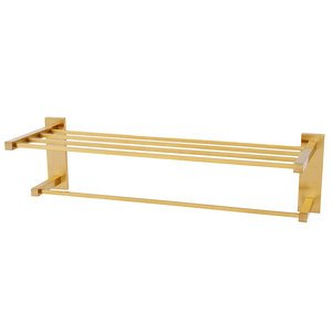 """Alno Inc. Creations Solid Brass 24"""" Towel Rack in Satin Brass"""