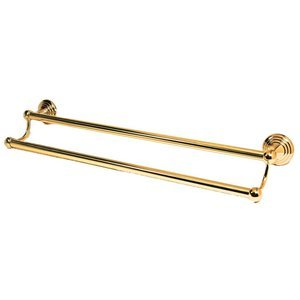 """Alno Inc. Creations 30"""" Double Towel Bar in Polished Brass"""