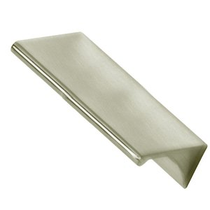 """Alno Inc. Creations Solid Brass 3"""" Centers Tab Pull in Satin Nickel"""