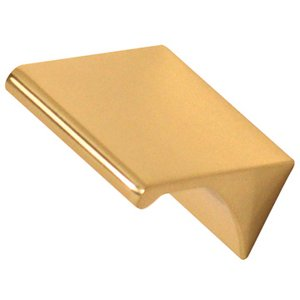 """Alno Inc. Creations Solid Brass 3/4"""" Centers Tab Pull in Unlacquered Brass"""