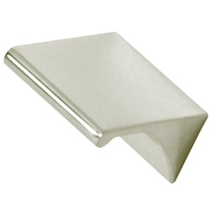 """Alno Inc. Creations Solid Brass 3/4"""" Centers Tab Pull in Polished Nickel"""