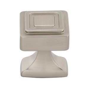 "Alno Cabinet Hardware - Cube - 1 1/4"" Knob in Satin Nickel"