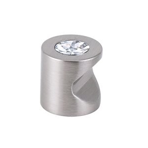 "Alno Inc. Creations Solid Brass Swarovski Crystal 3/4"" Knob in Satin Nickel"