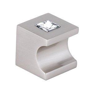 "Alno Inc. Creations Solid Brass Swarovski Crystal 1"" Knob in Satin Nickel"