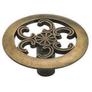 "Amerock 1 1/2"" Diameter Oversized Knob in Antique Brass"