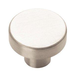 """Amerock 1 1/4"""" Diameter Knob in Stainless Steel"""