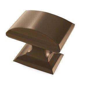 "Amerock 1 1/4"" Rectangular Knob in Caramel Bronze"