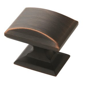 "Amerock - Candler 1 1/4"" Rectangular Knob in Oil Rubbed Bronze"