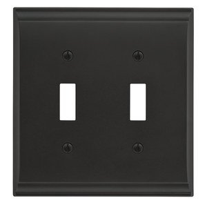 Amerock Double Toggle Wall Plate in Black Bronze