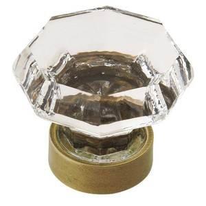 "Amerock 1 5/16"" Diameter Glass Knob in Gilded Bronze with Glass"