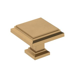 """Amerock 1 1/4"""" (32mm) Square Knob in Champagne Bronze"""
