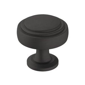 """Amerock 1 1/4"""" (32mm) Diameter Knob in Flat Black"""