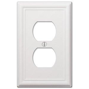 Amerelle Wallplates Single Duplex Wallplate in White