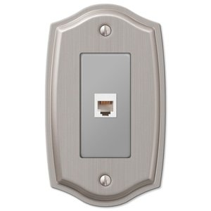Amerelle Decorative Wallplates - Sonoma - Single Phone Wallplate in Brushed Nickel