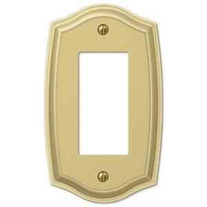 Amerelle Wallplates Single Rocker Wallplate in Polished Brass