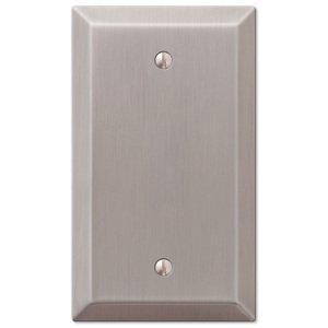 Amerelle Wallplates Single Blank Wallplate in Brushed Nickel
