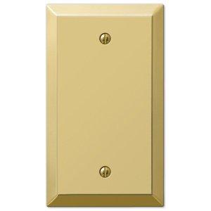 Amerelle Wallplates Single Blank Wallplate in Polished Brass