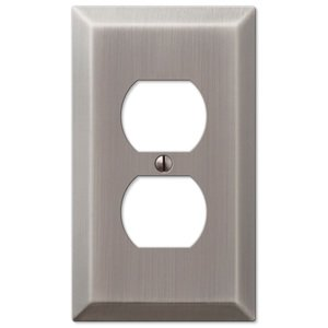Amerelle Wallplates Single Duplex Wallplate in Antique Nickel