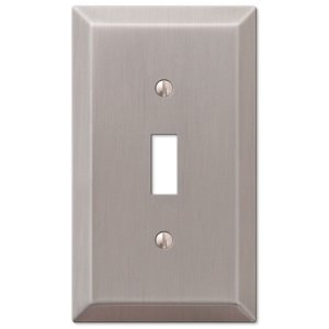 Amerelle Wallplates Single Toggle Wallplate in Brushed Nickel