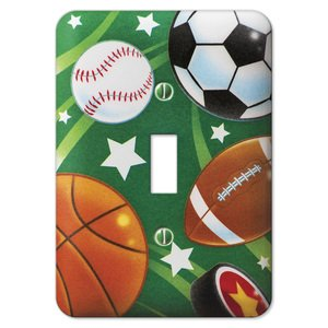 Amerelle Wallplates Sports Single Toggle Wallplate in Painted
