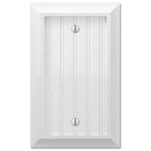 Amerelle Wallplates Single Blank Wallplate in White