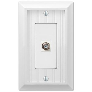 Amerelle Decorative Wallplates - Cottage - Single Cable Wallplate in White
