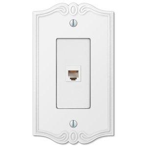 Amerelle Wallplates Single Phone Wallplate in White
