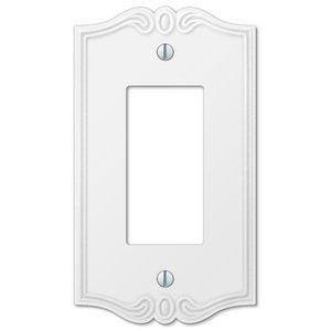 Amerelle Wallplates Single Rocker Wallplate in White