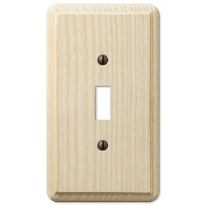 Amerelle Wallplates Single Toggle Wallplate in Unfinished Ash Wood
