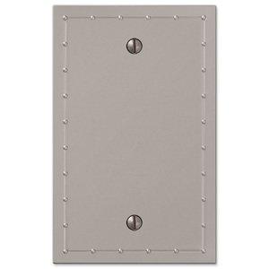 Amerelle Wallplates Single Blank Wallplate in Satin Nickel