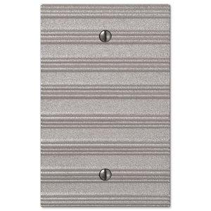 Amerelle Wallplates Single Blank Wallplate in Frosted Nickel